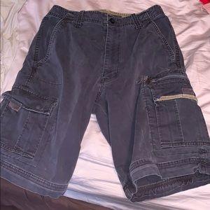 Navy blue cargo shorts